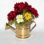 Maroon Watering Can arrangement