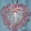 Rose Abaca Heart