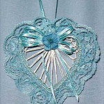 Blue Abaca Heart