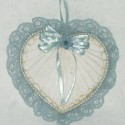 Country Blue Abaca Heart