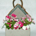Rustic Birdhouse Wall Basket
