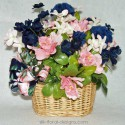 Navy and Pink Basket