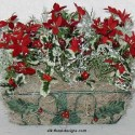 Poinsettia and Holly Basket