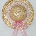 Pink Mini Straw Hat