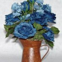 Blue Mini-Pitcher Arrangement