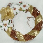 Christmas Gold Wreath