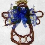 royal blue grapevine angel