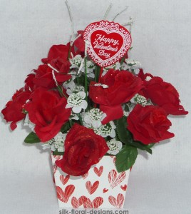 valentine's day box arrangement