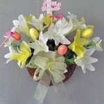 Easter Wall Pocket basket with lilies