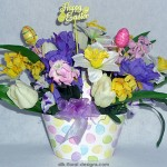 oval basket Easter arrangement