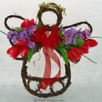 spring grapevine angel with tulips and lilacs