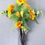 Grapevine cross for spring decorated with mini daffodils