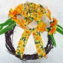 Spring Grapevine Wreath – Daffodils 1